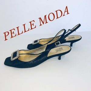 PELLE MODA DRESSY LEATHER SANDALS OPEN HEEL/TOE